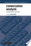 Conversation analysis : comparative perspectives /