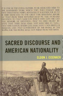 Sacred discourse and American nationality /