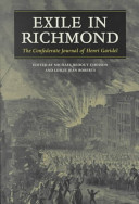 Exile in Richmond : the Confederate journal of Henri Garidel /