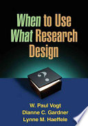 When to use what research design /