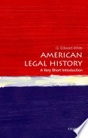 American legal history : a very short introduction /