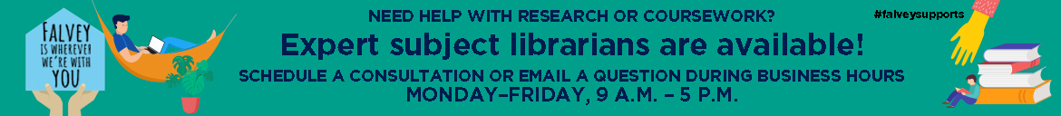 Book an appointment with a subject librarian.