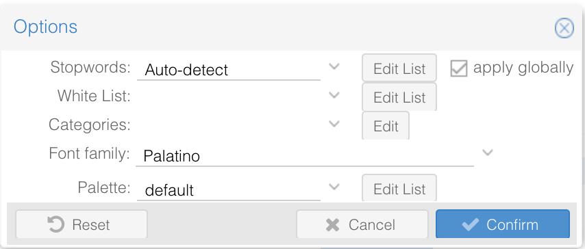 Voyant Tools Stopwords Auto-detect screenshot