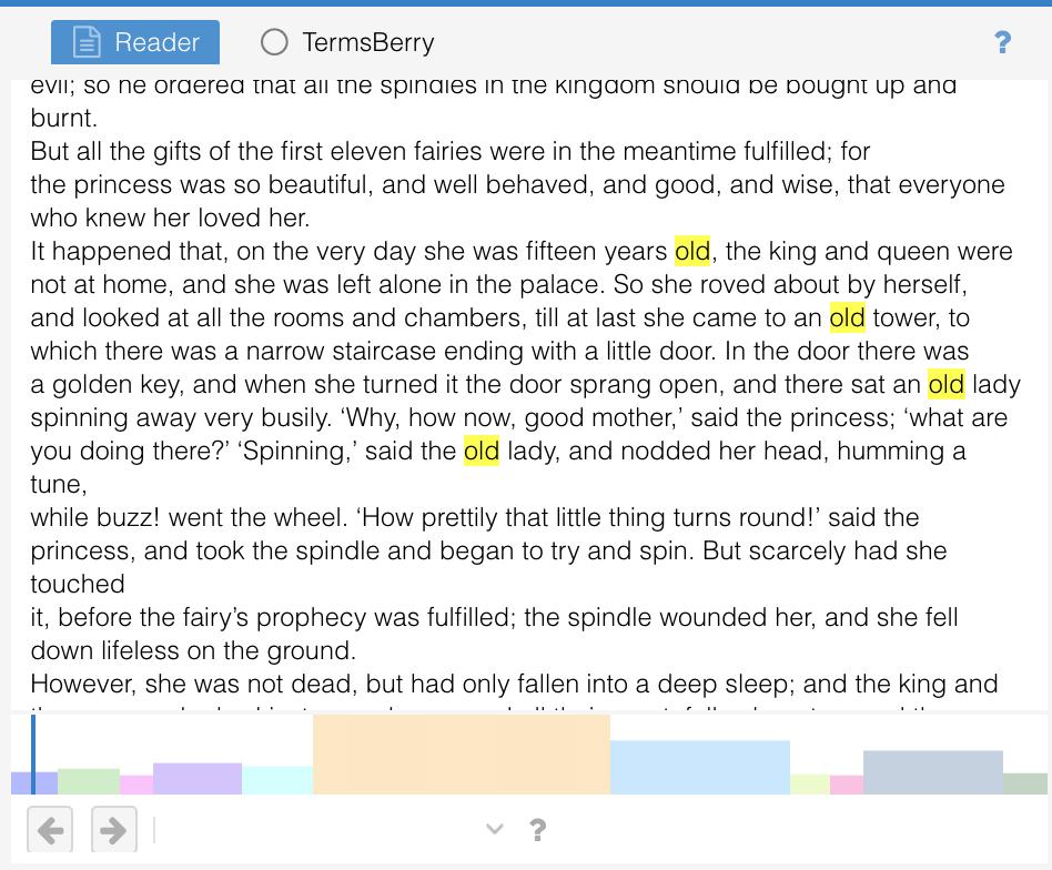 Voyant Tools Reade Highlighted Word screenshot