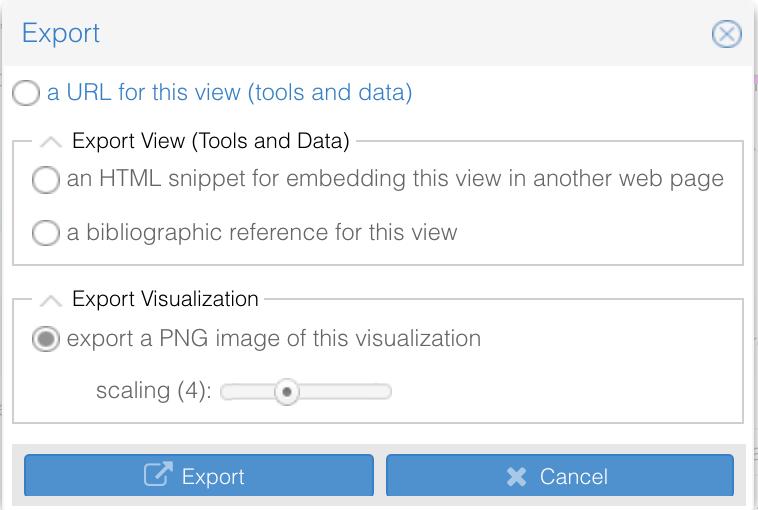 Voyant Tools Export PNG Scale screenshot